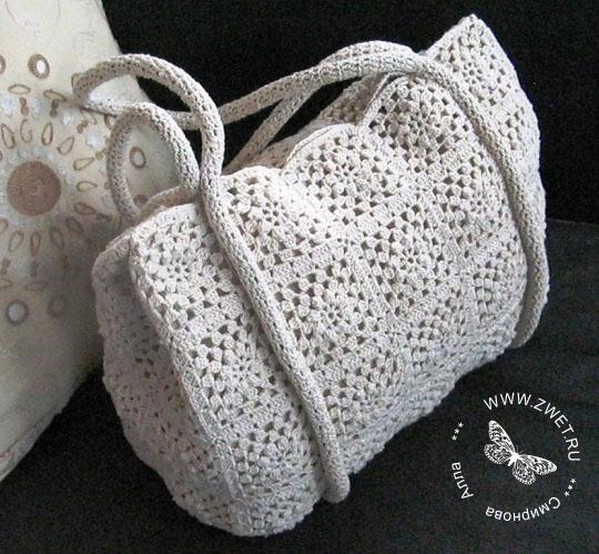 Вязаные сумки спицами, вязаные сумки крючком. Схемы и