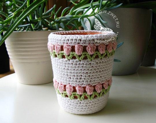 Вязаные цветы крючком со схемами вязания. Красивые вязаные